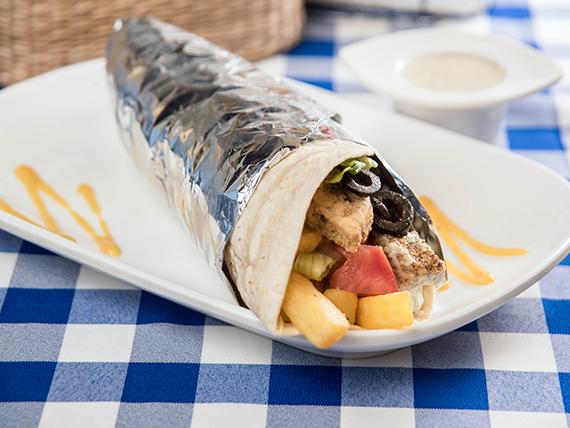 Gyro papas (shawarma) tradicional