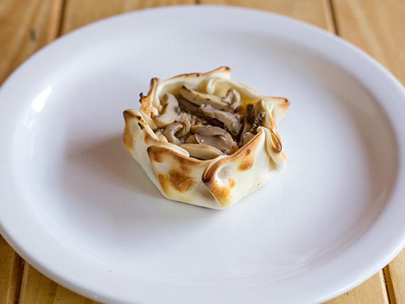 Empanada de champignones y queso