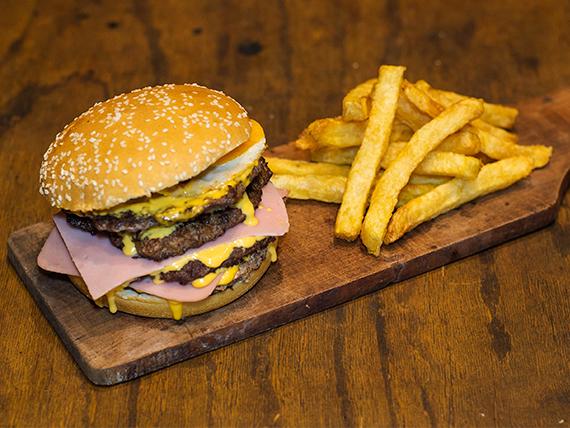 Cuádruple burger