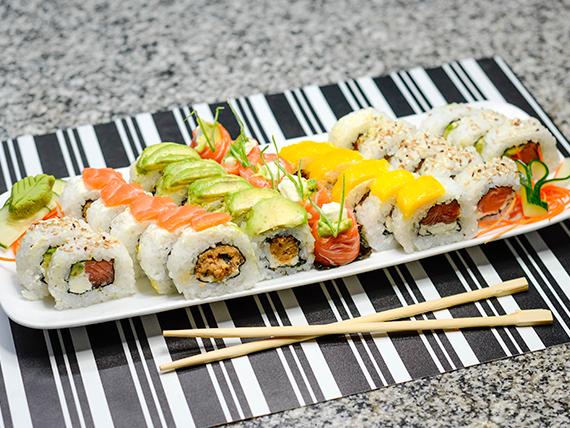 Promo 3 - Full salmón (25 Piezas) + geishas de salmón (5 piezas)
