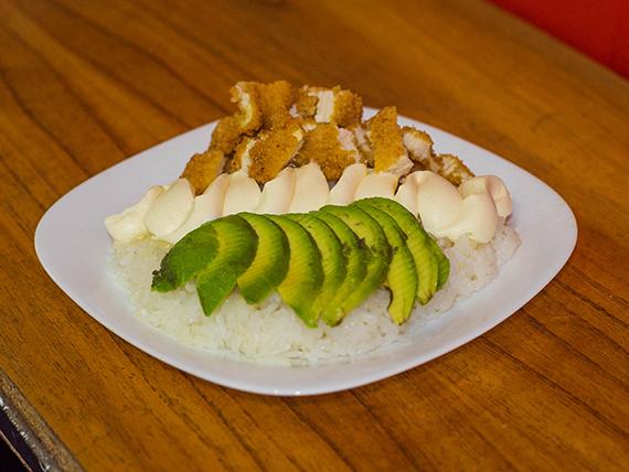 Salad chicken-teri