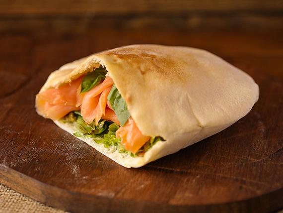 Kebab de salmón ahumado