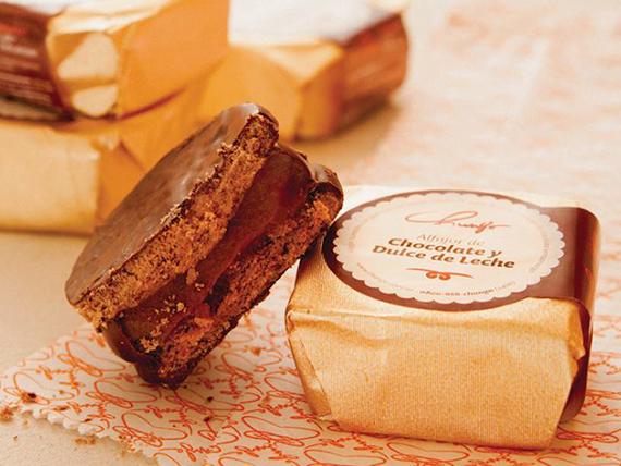 Alfajor Chungo de chocolate