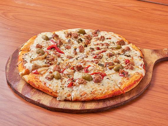 Pizza con mollejas