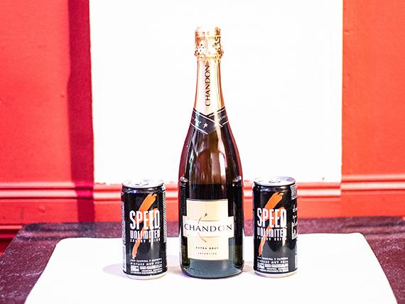 Promo 8 - Champagne Chandon 750 ml + 2 Speed