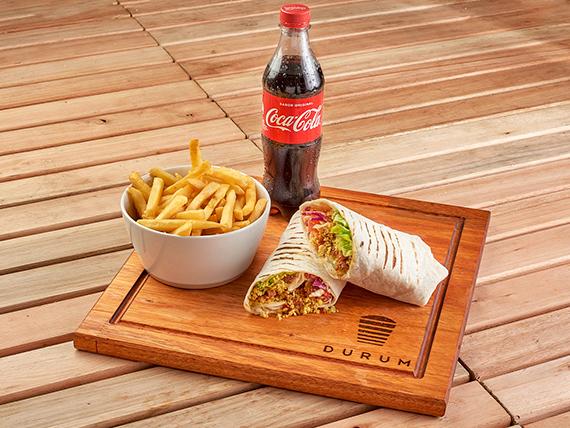 Combo XXL Durum vegetariano de falafel (600 g) + Papas + Gaseosa