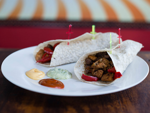 Tacos con salsa (2 unidades)