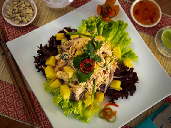 Ceviche thai de mariscos