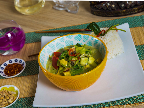 Curry verde vegetariano