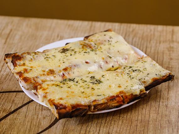 Porción pizza muzzarella sola
