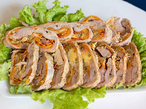 Arrollado de carne (porción)