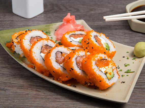 Sake cheese cali roll