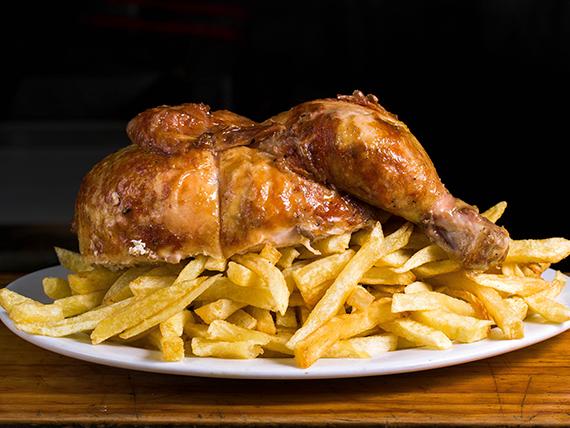 Medio pollo