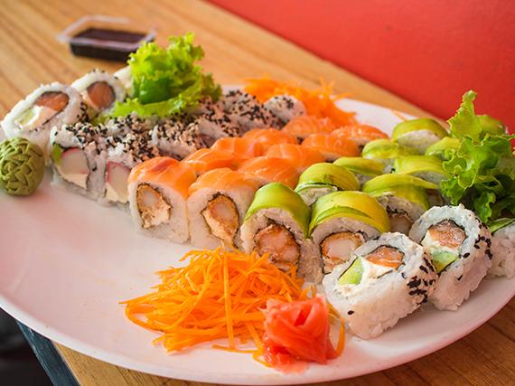 Tabla - 36 piezas de sushi