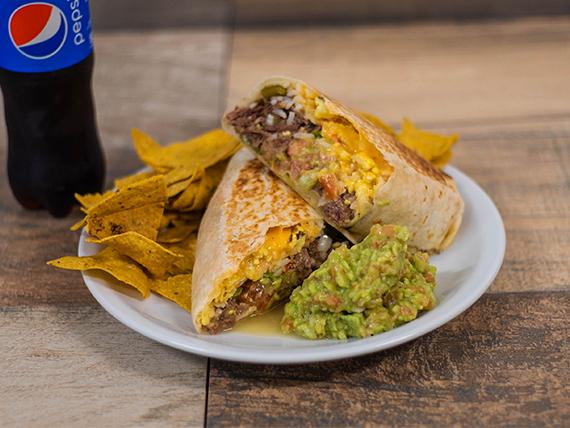 Combo - Burrito gigante + gaseosa o agua mineral