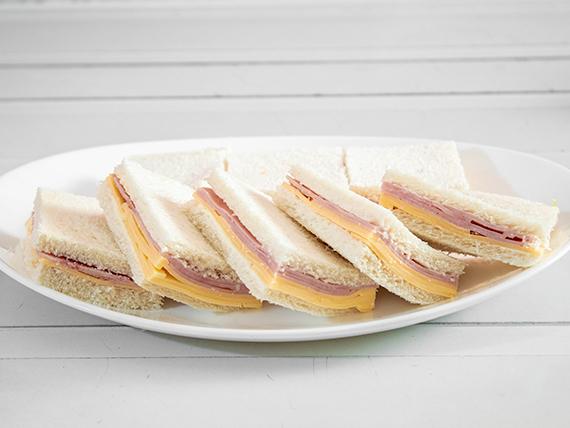 Sándwich mixto de jamón cocido