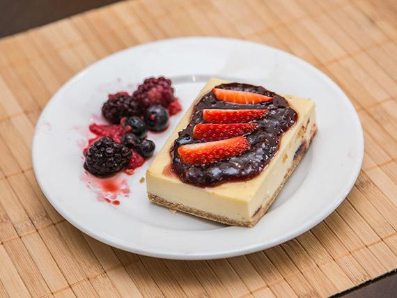 Mini cheesecake de frutos rojos