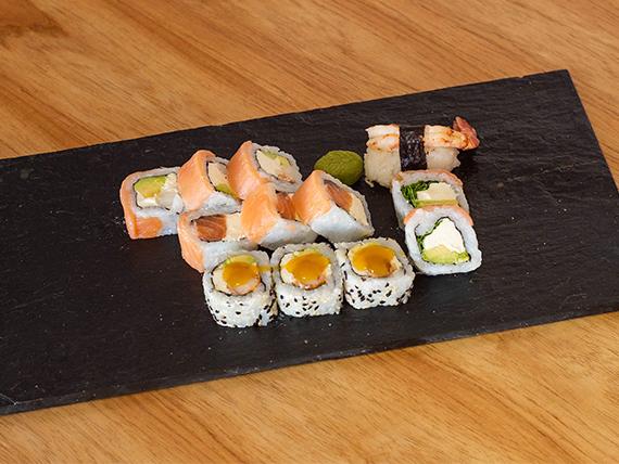 Combo Dimona (salmón ahumado y langostinos) - 12 piezas