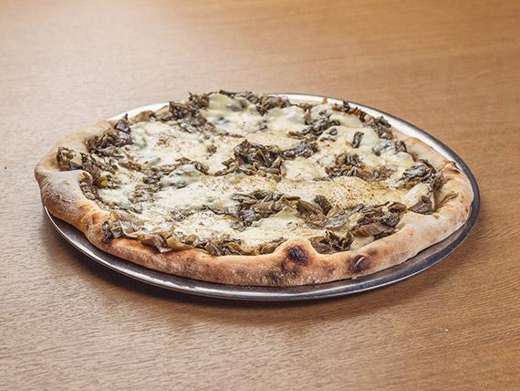 Pizza con cebolla de verdeo (8 porciones)