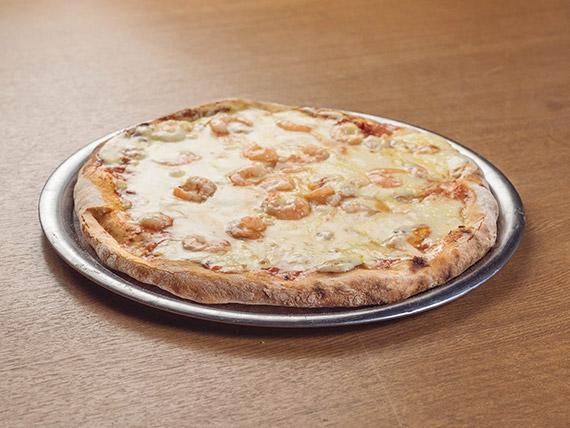 Pizza con camarones (8 porciones)