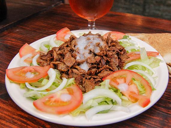 Shawarma de carne al plato