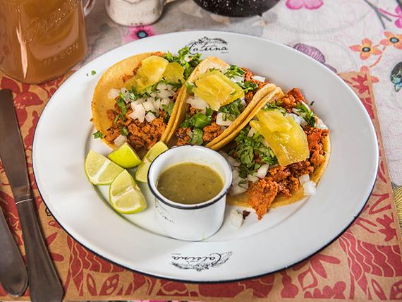 Tacos pastor (3 unidades)