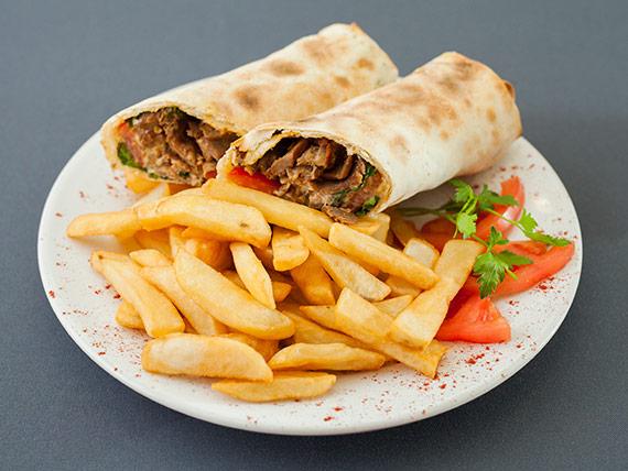 Chivito armenio de shawarma