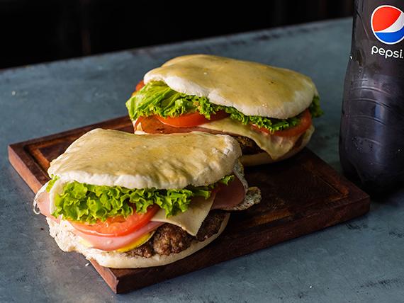 Combo - 2 hamburguesas super + Pepsi 1.5 L