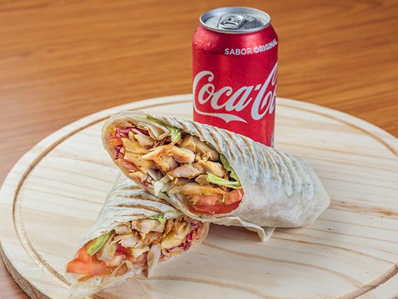 Shawarma XL de pollo (500 g) + bebida lata de REGALO!