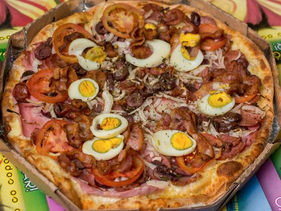Pizza Dálgarvia (portuguesa) grande