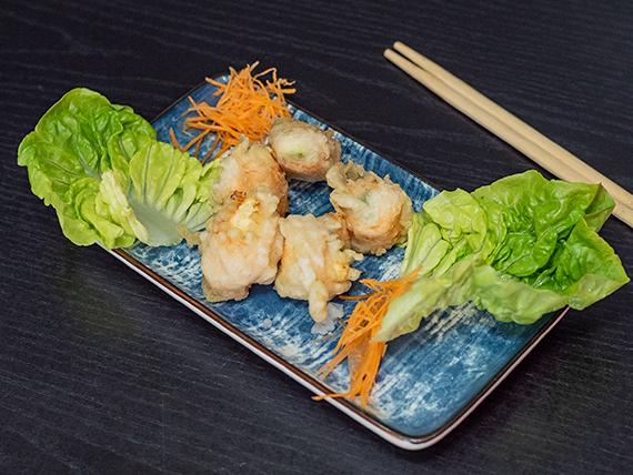 Geishas tempura (5 piezas)