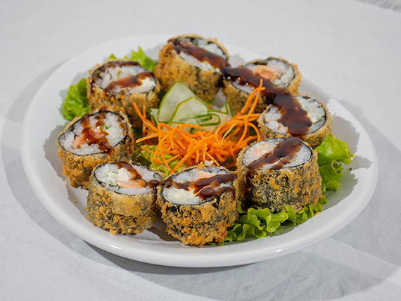 Sake hot roll (8 unidades)