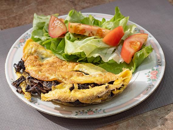 3 - Omelettes de champignones
