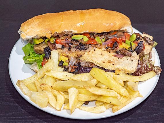 8 - Sándwich vegetariano