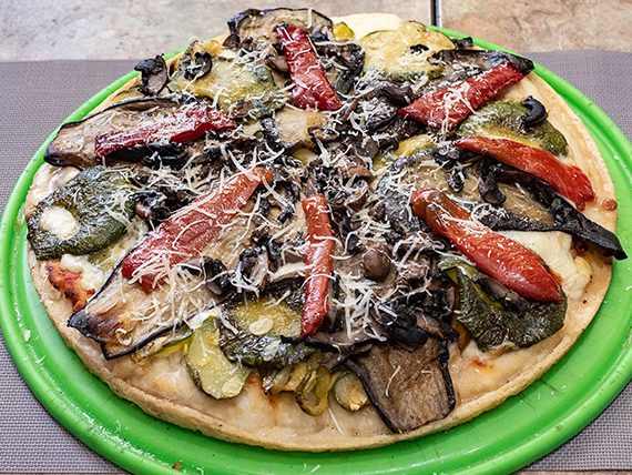 35 - Pizza con verduras al wok