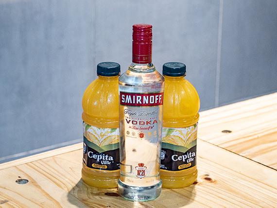 Promo 20 - Smirnoff + 2 jugos Cepita naranja
