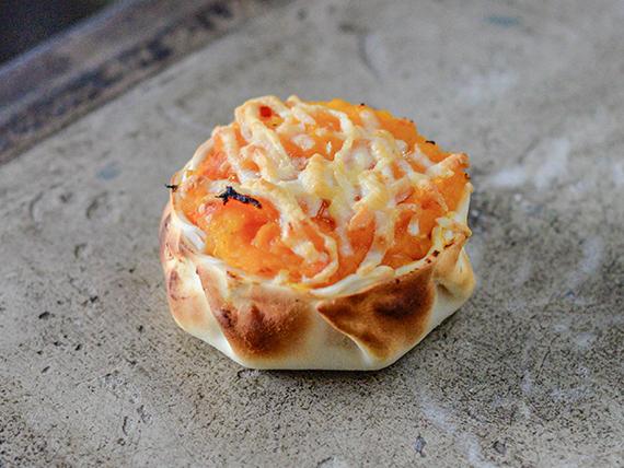 Canasta de calabaza con parmesano