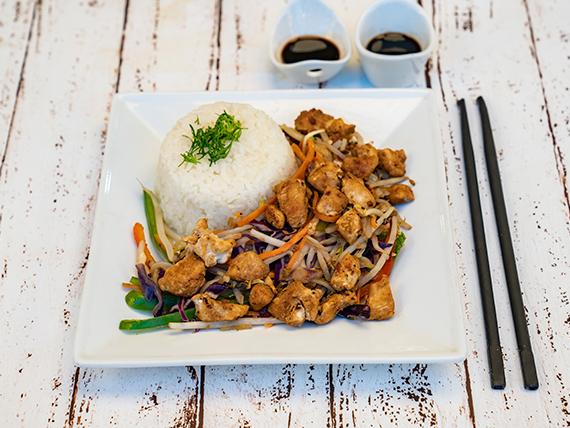 Teppan shogun con pollo