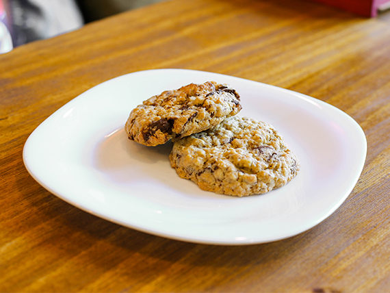 Cookie de avena, chocolate y nuez