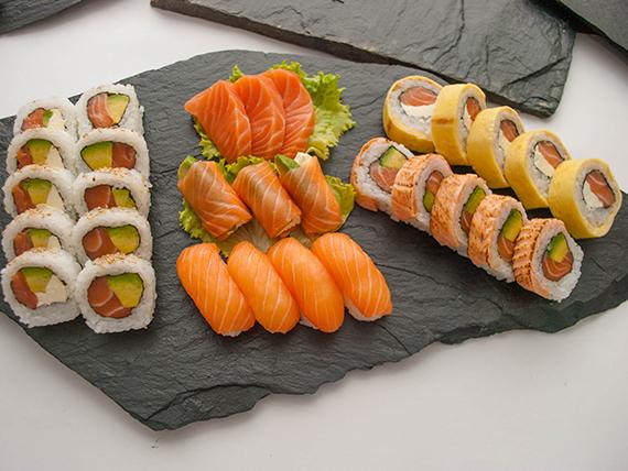 Tabla premium II - 30 piezas, solo salmón