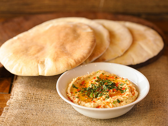 Hummus 250 gr + 4 panes de pita