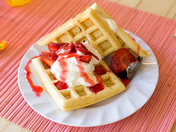 Waffles frutales