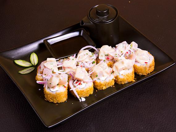 1 - Roll de camaron furai, queso crema y cebollin