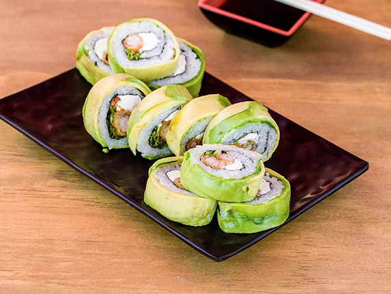 Ebi crunch roll