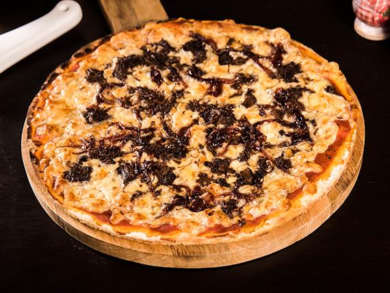 Pizza con asado de tira