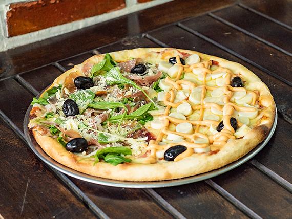 Pizza mitad y mitad chica