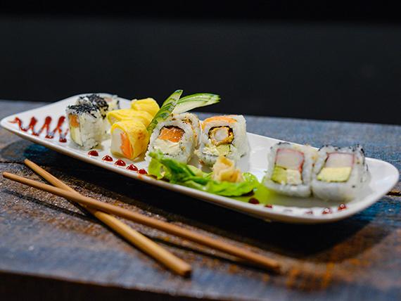 Tabla de sushi de salmón (15 piezas)