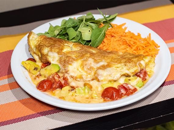 12 - Omelette de tomates cherry, palta y muzzarella