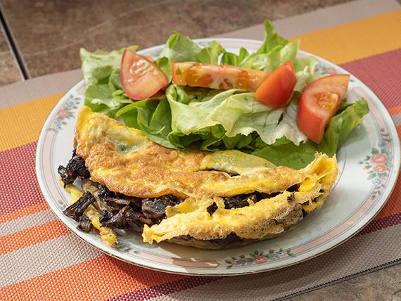 3 - Omelette de champignones