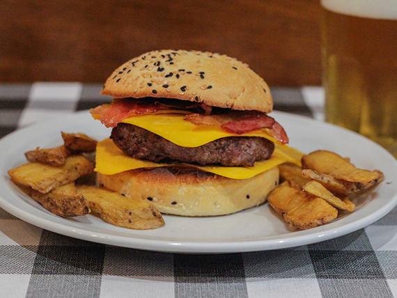 Angus american burger